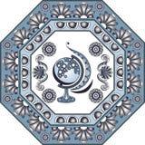 Grafische Illustration mit Keramikfliesen 2 Lizenzfreies Stockfoto