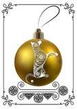 Grafische Illustration mit Weihnachtsdekoration 29 Lizenzfreies Stockfoto