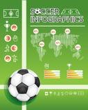 Grafische info van het voetbal   stock illustratie