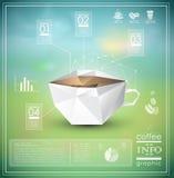 Grafische koffieinformatie stock illustratie
