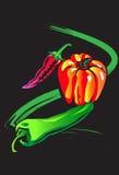 Het art. van groenten Stock Fotografie