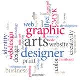 Grafische kunstenontwerper Stock Fotografie