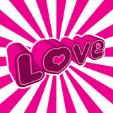 Grafische liefde Royalty-vrije Stock Afbeeldingen