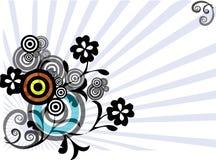 Grafische mit Blumenauslegung lizenzfreie abbildung