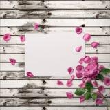 Grafische mit Blumenauslegung Feld mit Blumen und Grenze Art und Weiseabbildung Lizenzfreies Stockbild