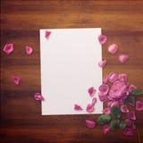 Grafische mit Blumenauslegung Feld mit Blumen und Grenze Art und Weiseabbildung Stockbilder