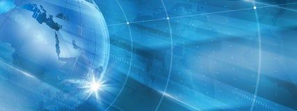 Grafische moderne digitale Weltnachrichten-Hintergrund Konzept-Reihe lizenzfreie abbildung