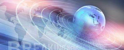 Grafische moderne digitale Weltnachrichten-Hintergrund Konzept-Reihe vektor abbildung