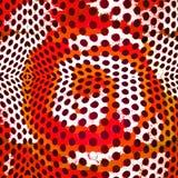 Grafische ontwerpachtergrond met hypnotic cirkels Royalty-vrije Stock Afbeelding