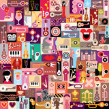 Grafische ontwerpcollage Royalty-vrije Stock Afbeeldingen