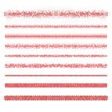 Grafische ontwerpelementen - de rode lijnen van de paginaverdeler vector illustratie