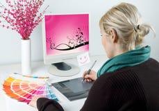 Grafische ontwerper Stock Foto's