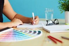 Grafische ontwerper Stock Foto