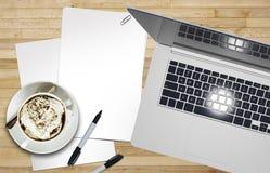 Grafische Ontwerper Desk Royalty-vrije Stock Afbeeldingen