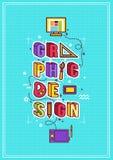 Grafische ontwerpillustratie Stock Foto's