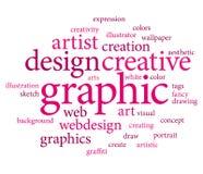 Grafische ontwerpmarkeringen Stock Afbeeldingen