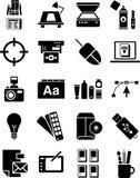 Grafische ontwerppictogrammen Stock Foto's