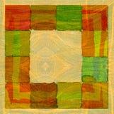 Grafische ontwerpsamenstelling als achtergrond met vierkanten Vector Illustratie