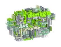 Grafische ontwerpstudio Stock Foto's