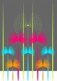 Grafische palmen Royalty-vrije Stock Afbeeldingen
