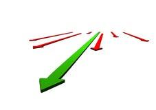 Grafische pijlen op wit Stock Foto