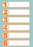 Grafische presentatie van het het werk proces in zes stappen in eenvoudig modern ontwerp met artistieke aantallen Royalty-vrije Stock Afbeelding