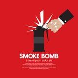 Grafische rookbom Stock Afbeeldingen
