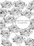 Grafische rozen Stock Afbeeldingen