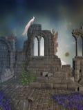 Grafische ruïnes 3d computer Stock Afbeelding