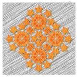 Grafische samenstelling van sterren op de achtergrond van grijze lijnen Stock Fotografie