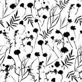Grafische Sammlung des natürlichen nahtlosen mit Blumenmusters mit Blättern und Blumenelementen Frühlingssommerdesign für Einladu Lizenzfreies Stockfoto