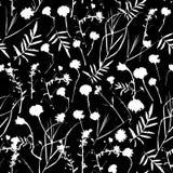 Grafische Sammlung des natürlichen nahtlosen mit Blumenmusters mit Blättern und Blumenelementen Frühlingssommerdesign für Einladu Stockfoto