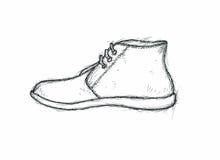 Grafische schets van een laars Royalty-vrije Stock Foto's