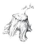 Sprössling von der Stumpfgraphikillustration Lizenzfreie Stockfotos