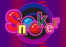 Grafische snooker stock illustratie