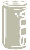 Grafische soda frisdrank Royalty-vrije Stock Afbeeldingen
