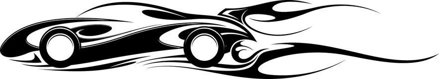 Grafische sportwagen Stock Afbeelding