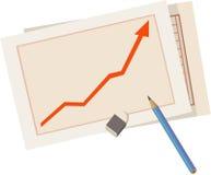 Grafische statistiek Stock Foto's