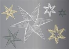 Grafische Sterne in den grauen Farbenfarbtönen stock abbildung