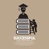 Grafische Succesvolle Symbool Conceptuele Ideeën van Onderwijs Royalty-vrije Stock Afbeelding