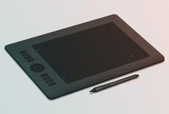 Grafische tablet en naald Royalty-vrije Stock Fotografie
