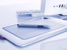 Grafische Tablette Stockfoto