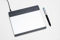 Grafische Tablette mit digitalem Stift 1 Lizenzfreies Stockbild