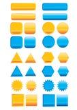Grafische Tasten-Elemente Stockbild