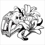 Grafische tekening | Tiger Lily vector illustratie