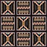 Grafische textuur met Mexicaans patroon 2 Stock Foto