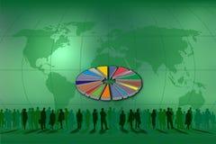 Grafische Torte für Statistiken Stockbild