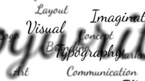 Grafische van Ontwerpwoorden lijn als achtergrond met steen royalty-vrije illustratie