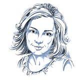 Grafische vector hand-drawn aantrekkelijke illustratie van witte huid Royalty-vrije Stock Afbeelding