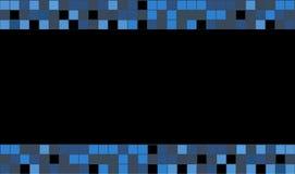 Grafische vierkante kleur Blauwe vierkanten op zwarte achtergrond voor loyaliteitskaart stock illustratie